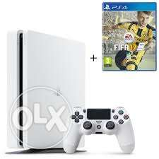 ps4 slim 500 gb glacier white with free fifa 17