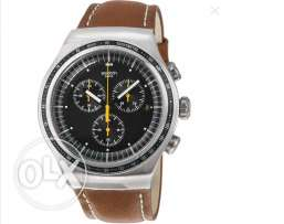 SWATCH Alpine Vintage Green Dial Brown Leather 2016