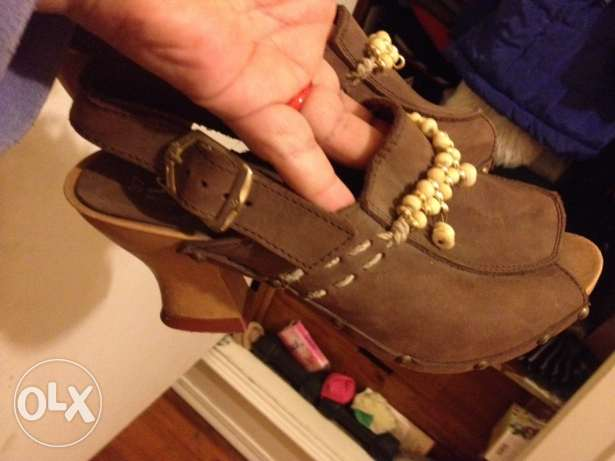 new natural leather saboh made in italy, size37 الدقى  -  2