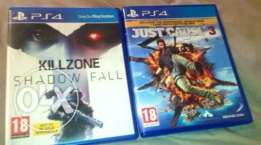 Just cause 3 & Kill Zone PS4
