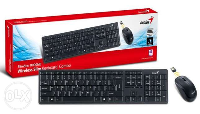 Slim 2.4GHz Wireless Keyboard Combo SlimStar 8000