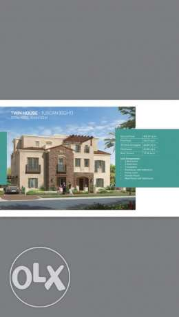 twin house for sale mivida compound new cairo