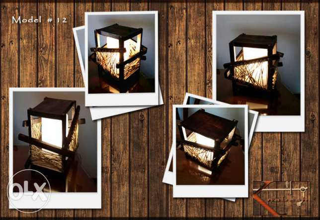 Handmade wooden table lamp شيراتون -  1
