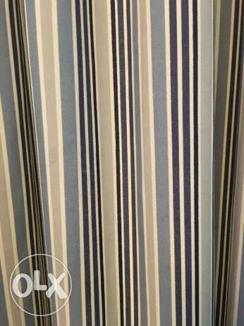 Blue Stripes Curtains (ستارة ازرق مقلم)