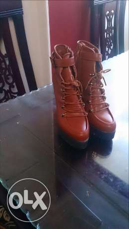Half boot, brown colours, 39 in size
