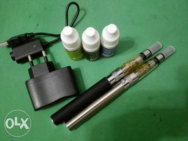 2 eGo Starter kit vapes With Charger & Liquids