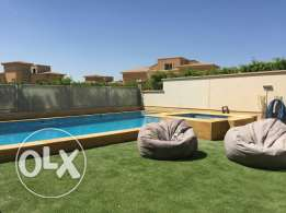For rent amazing modern furnished villa inside compound in zayed City