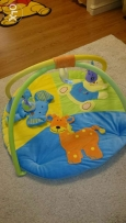Play mat and gym with 3 detachable toys سجادة اطفال
