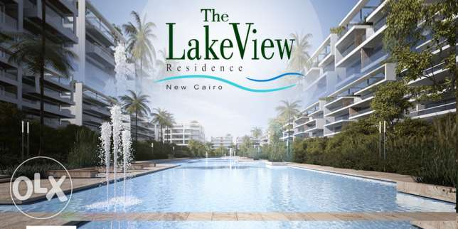 Lake view residence, New cairo, apartment 204 meters with installments