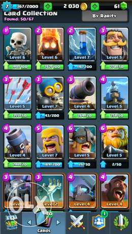 Clash royale account 15 epic 1 legendary Arena 7 الهرم -  3