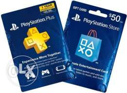 Psn Egypt plus Subscription Cards , Store Cards
