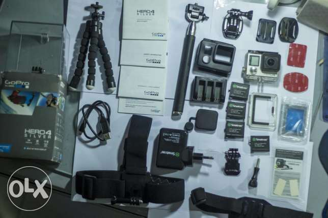 Gopro Hero 4 silver with all accessories