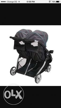 Graco double stroller New never been used مصر الجديدة -  3