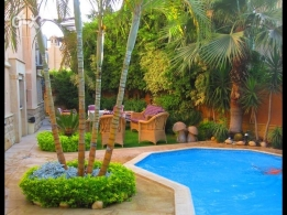 Amazing fully furnished villa in amazing compound with amazing price
