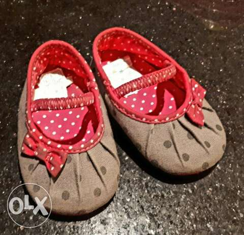 Pink with Gray Polka Dolka Shoe