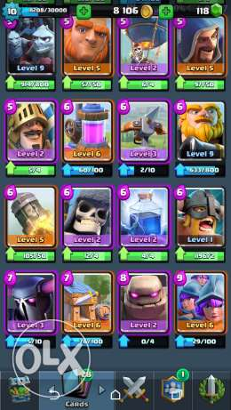 Arena 10 Clash royale account مصر الجديدة -  1