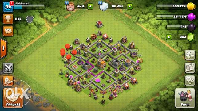 coc town hall level 7