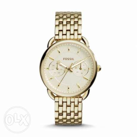 original used fossil *ES-3714 gold watch very good condition for sale