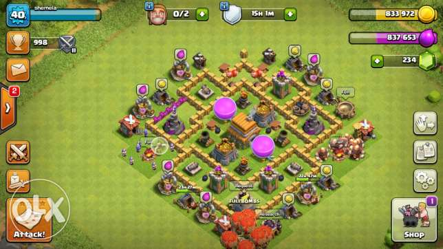 town hall level 6 for sale email clash of clans