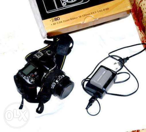 For sell Nikon D80 w lens 70-35mm w shutr 6k حدائق القبة -  2