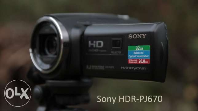 sony hdr-pj670e full hd -projector-mic in