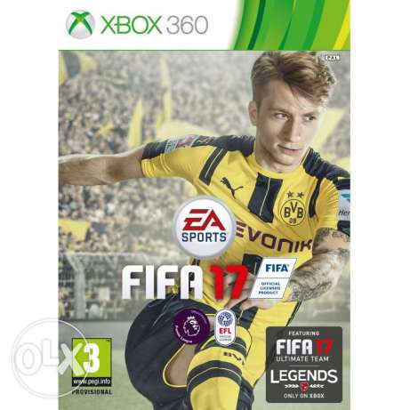 USED AS NEW , fifa 2017 for xbox 360 NTSC ( USA version)