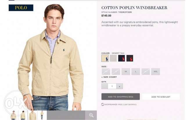 original ralph lauren jacket on website for 145$ selling for 1700 التجمع الخامس -  1