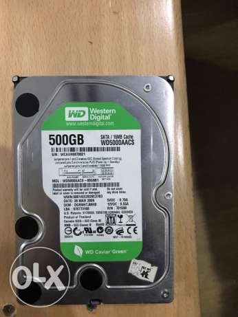 WD green hard drive 500 gb هارد ٥٠٠ جب