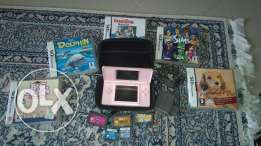 Nintendo DS lite + 10 games and a case