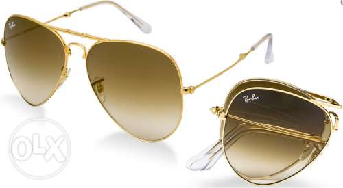 Ray Ban Sunglasses Brown Gradient Gold