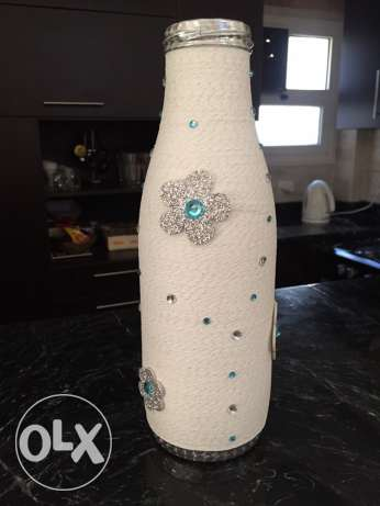 unique handmade vase- winter version مدينتي -  4