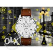 Dox grovana brown leather strap