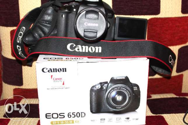 Canon 650D like new shutter 5K with box