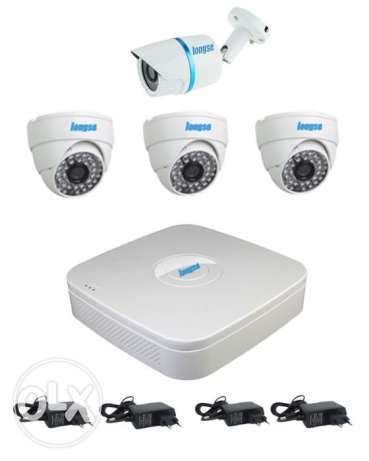 AHD 4Ch DVR +3 Vandalproof 1.3MP + 1Outdoor 1.3MP CCTV Security Camera