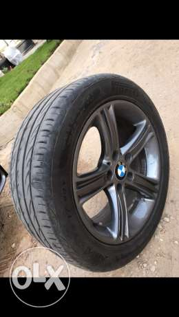 BMW original Shadow sportline rims and tires in perfect condition