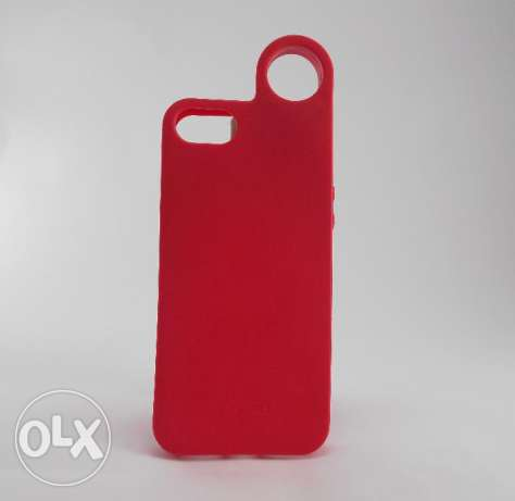 New Remax iPhone5 Ring Cover-Red - جديد جراب ريماكس ايفون5 رينج - احمر