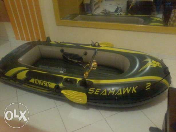 Intex Inflatable Boat قارب مركب زودياك كاياك سبيد صيد مطاطي سي هوك 2 الغردقة -  4