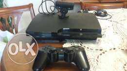 Sony Playstation 3 with camera and joystick