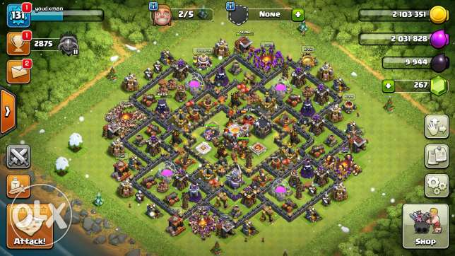 كلاس اوف كلانس تون ١١ clash of clans town hall 11 مدينة نصر -  3