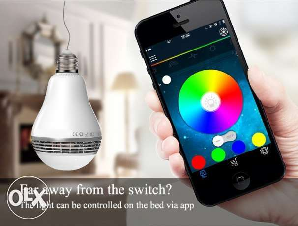 Smart LED Bulb Light Wireless Bluetooth Speaker المعادي -  1