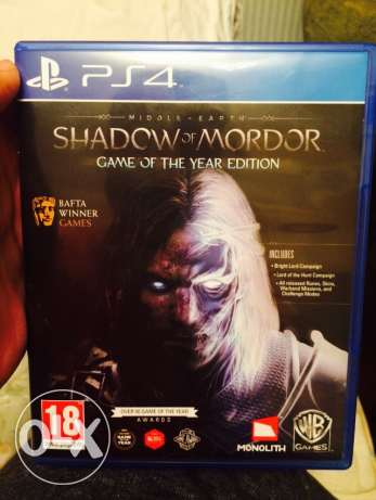shadow of mordor GOTY edition