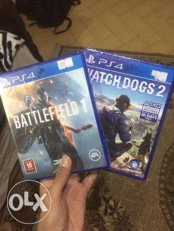battlefield1 new arabic edition , watchdogs2 new for sale ps4