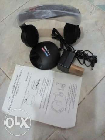 سماعه T.V توشيبا الاسلكيه .INFRRED STERRO HEADPHONESYSTEM موديل CS777