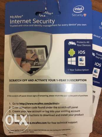 McAfee Internet Security 1-Year Subscription
