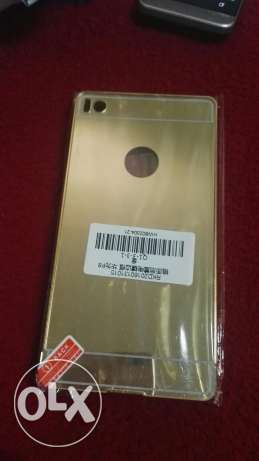 Huawei p8 metal mirror cover gold