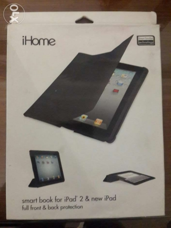 New iHome Smart Book for iPad2&new ipad,Black جراب أي باد اصلي