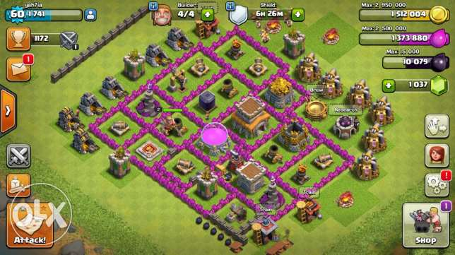 clash of clans account مدينة نصر -  1