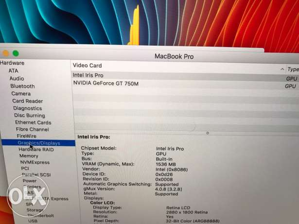 apple MacBook pro retina 15 16 ram 512ssd مدينة نصر -  8