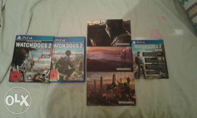 CD WATCH DOGS 2 FOR PS4 USED 2 WEEKS تبدل ب CD gta v ps4