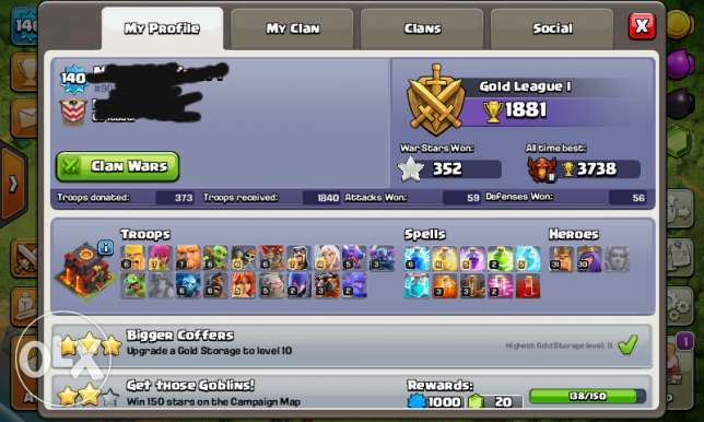 Clash of clans th10 max.